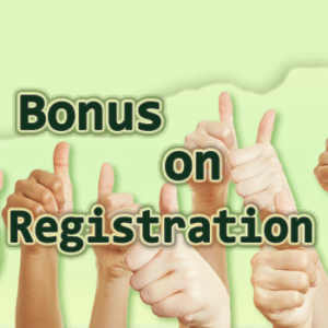 Bonus on Registration