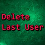 Delete last user