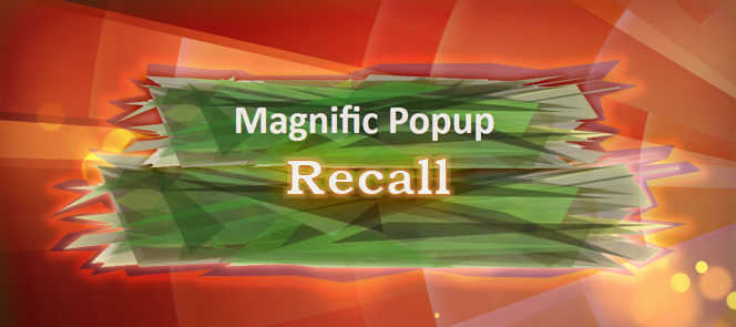 Magnific Popup Recall