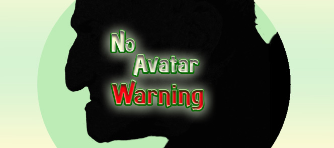 No avatar warning