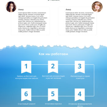 Стоматология Landing Page
