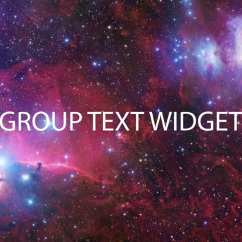 Text widget groups