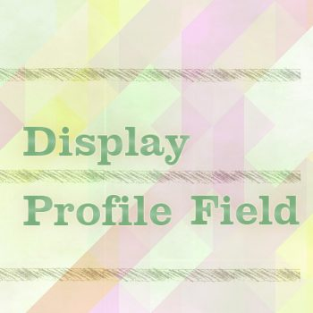 Display Profile Field