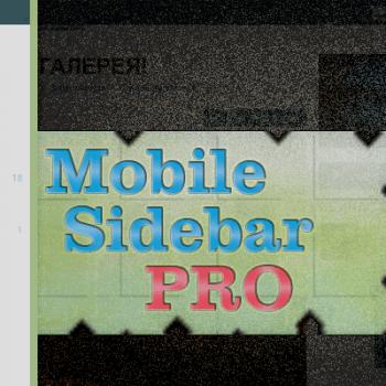 Mobile Sidebar PRO