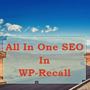 All In One SEO In WP-Recall